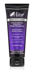THE MANE CHOICE Green Tea & Carrot Deep Strengthening & Restorative Mask Treatment Maska głęboko odżywiająca 236,59ml
