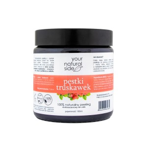 YOUR NATURAL SIDE Drobnoziarnisty peeling z pestek truskawek 100g